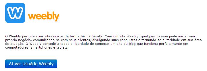 Ativar Usuário Weebly cPanel