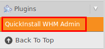 QuickInstall WHM Admin
