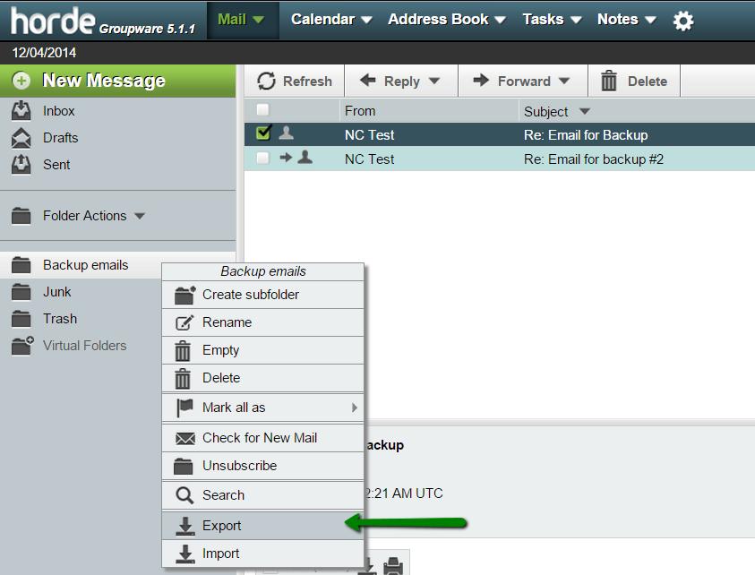 Como fazer backup de e-mails no cPanel webmail
