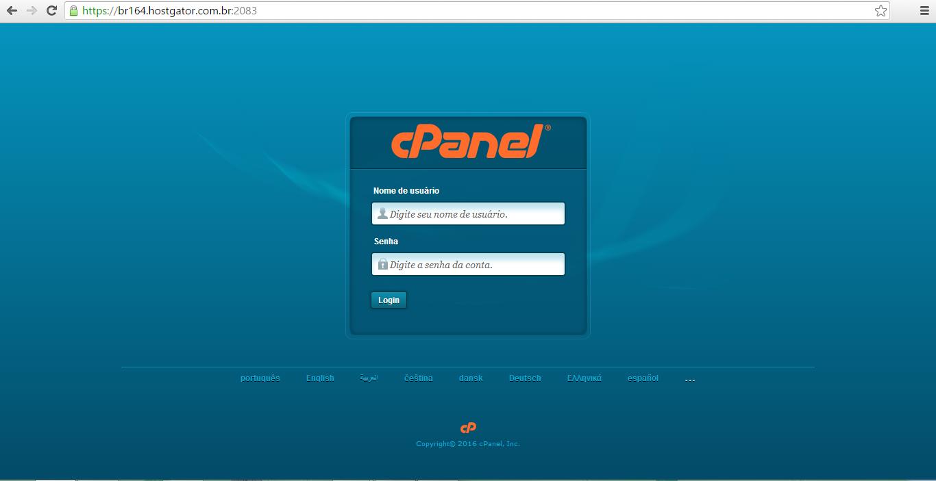 cPanel SSL Compatilhado