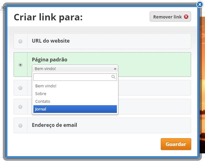 Link em Imagem Weebly
