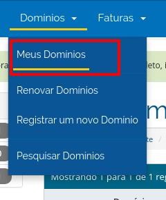 Meus Domínios - HostGator Brasil