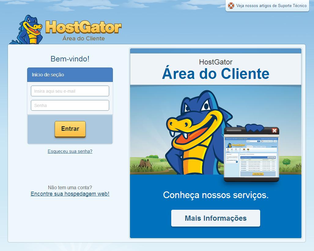 Nova Área do Cliente HostGator Brasil