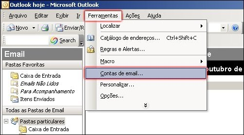 Outlook 2003 HostGator