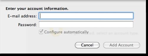 Outlook 2011 Mac OS X HostGator