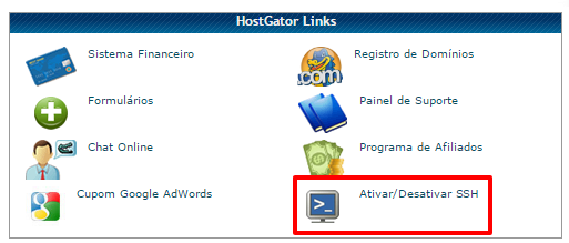 SSH cPanel HostGator