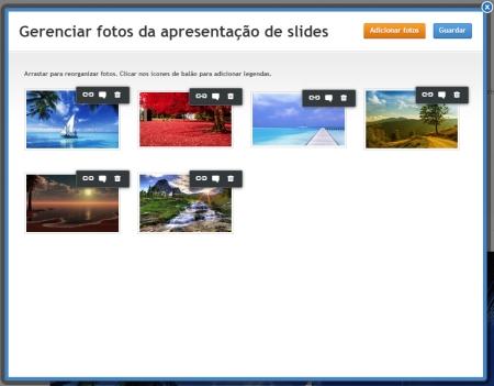 Upload de Imagem SlideShow Weebly